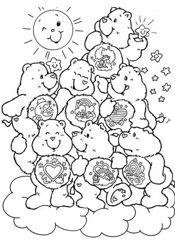 coloring pages for care bares - photo#23