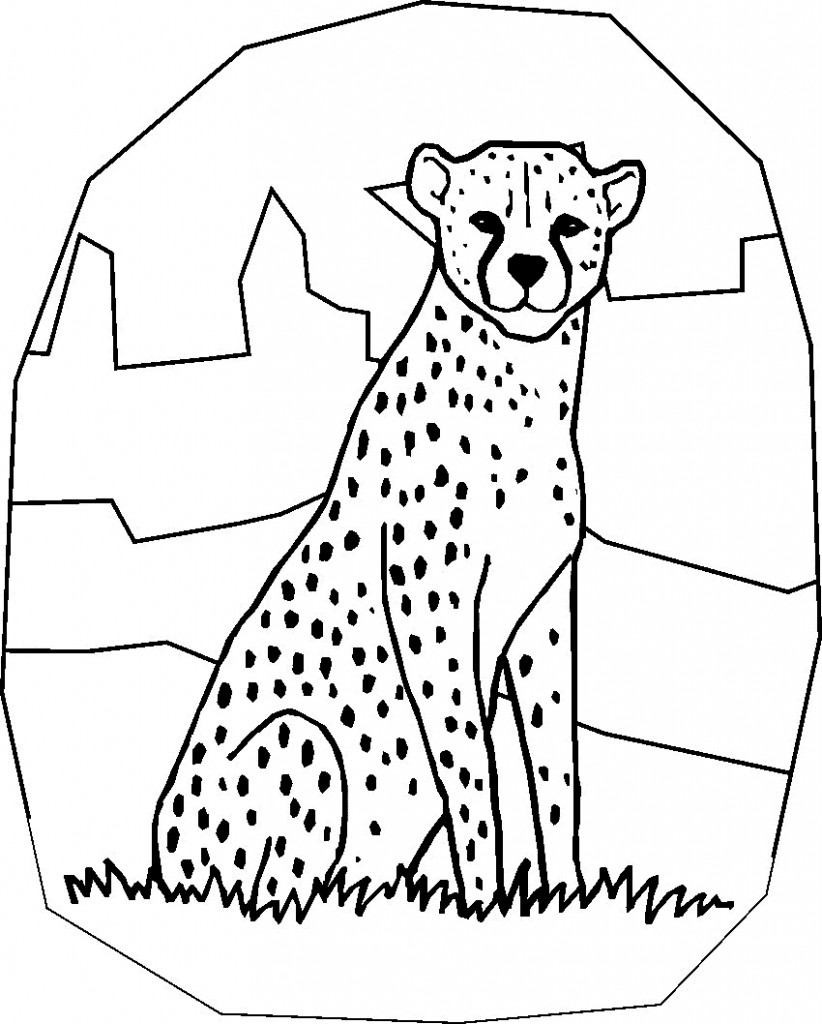 cheetah images coloring pages - photo#18