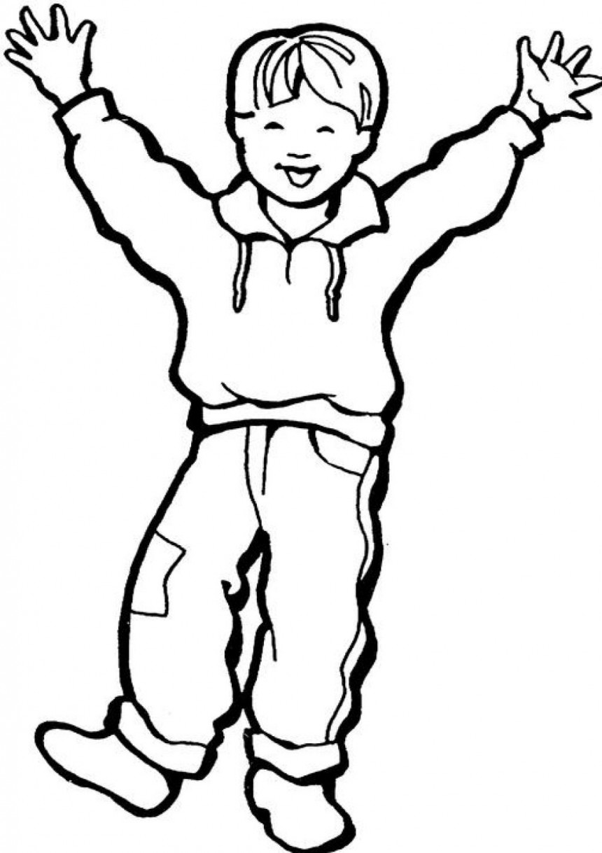 a boy coloring pages - photo #8