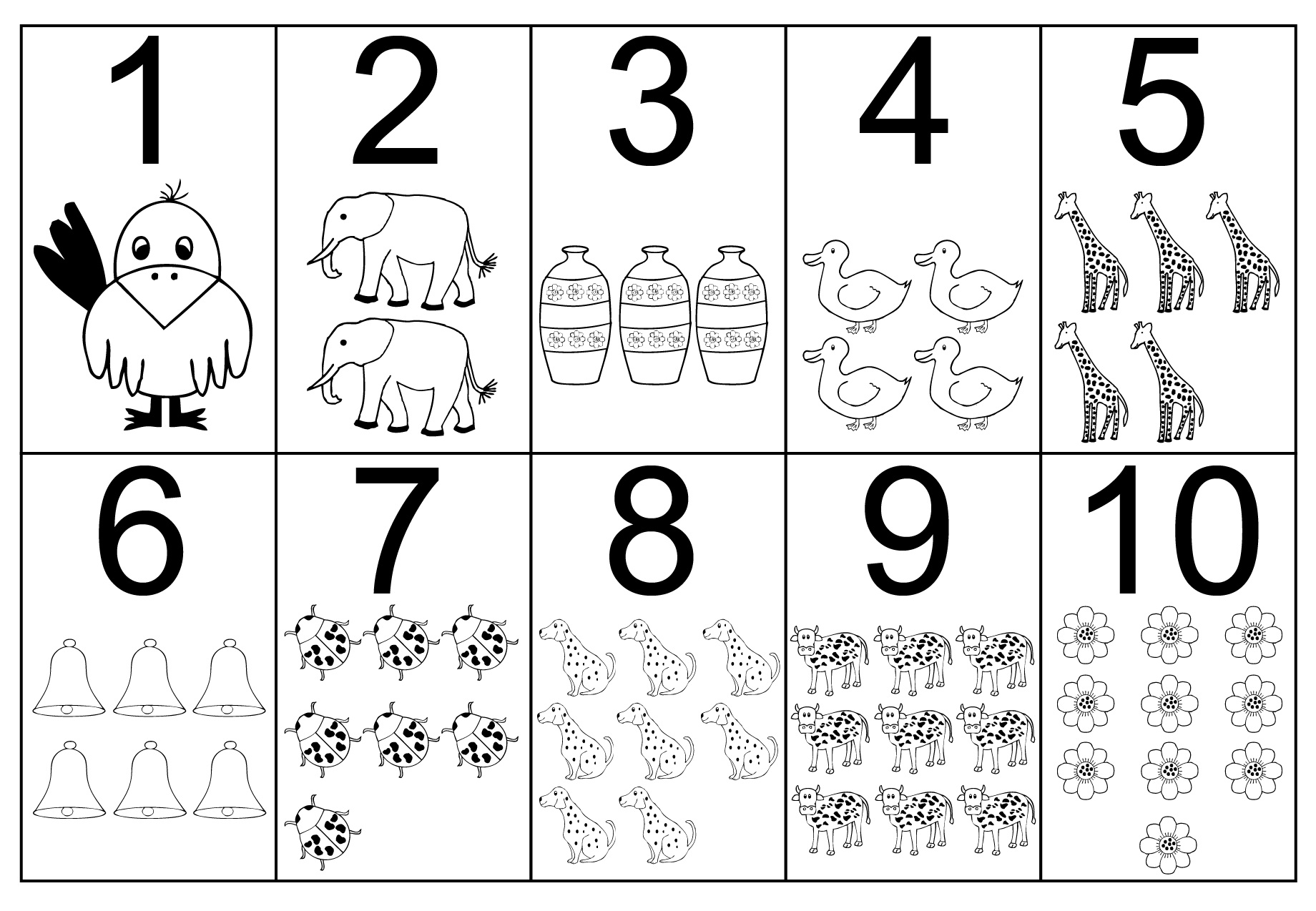 Printable Coloring Numbers : Free printable number coloring pages for kids