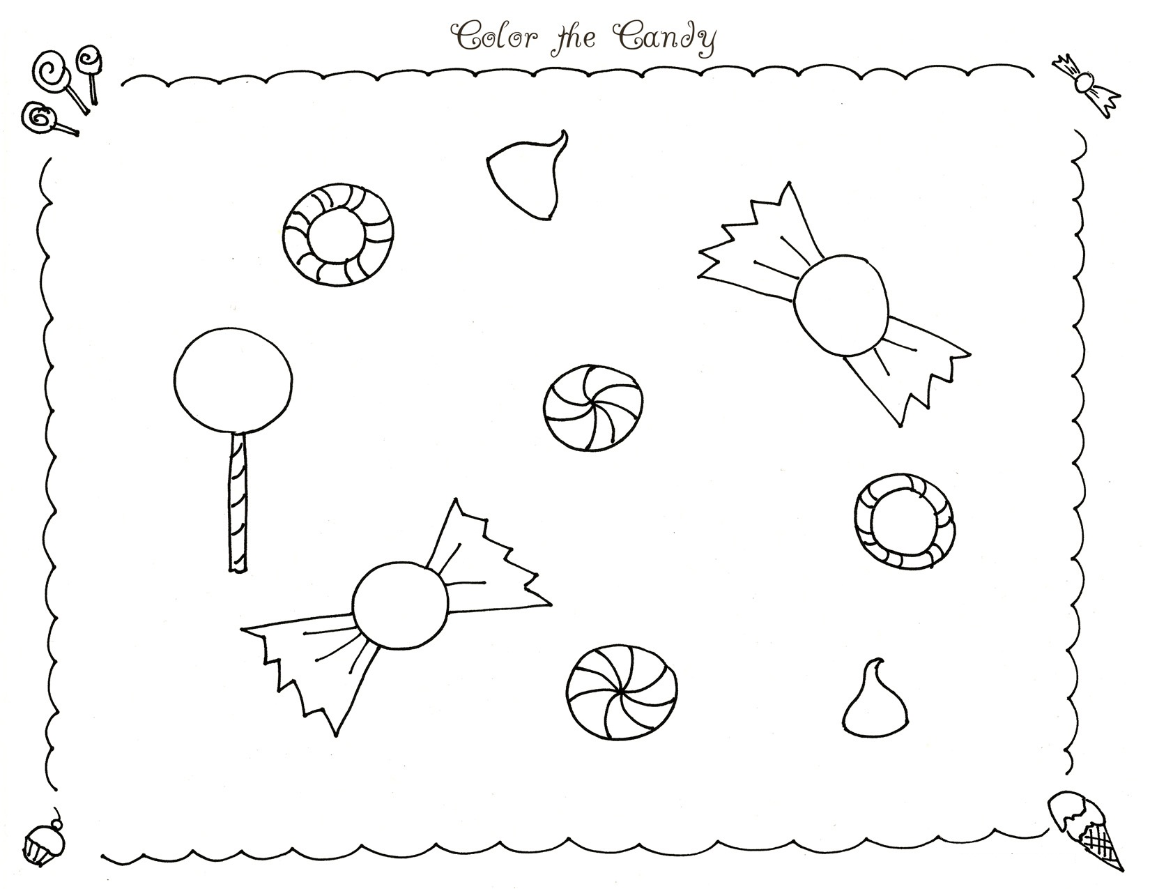 coloring pages fo candy - photo#27