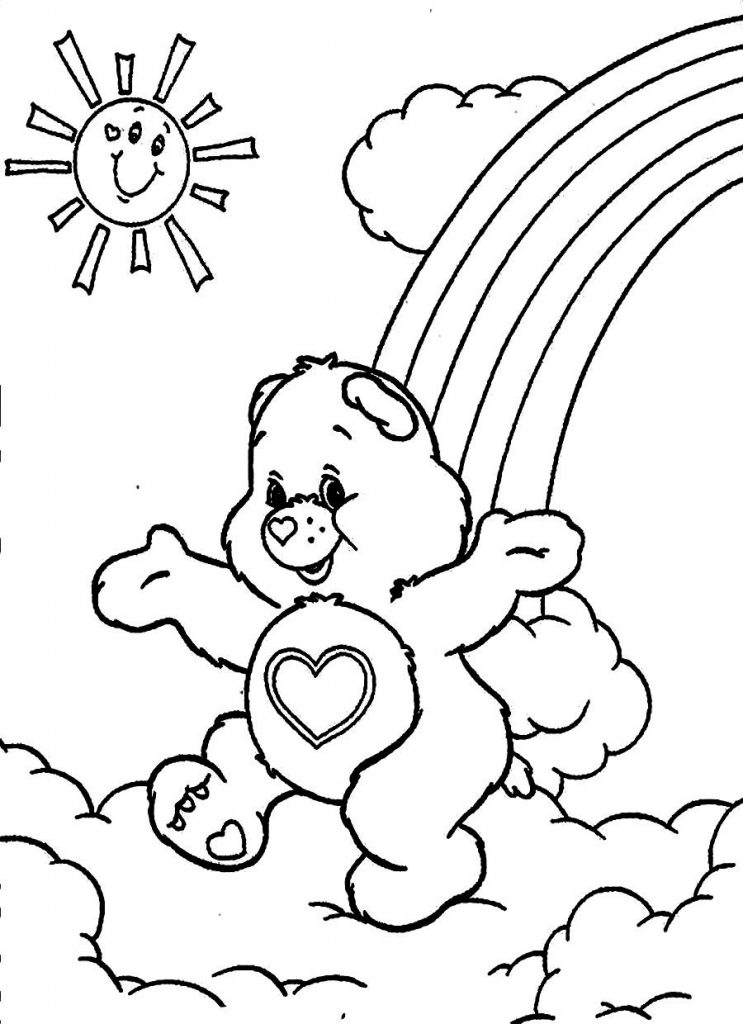 Free printable care bear coloring pages for kids for Coloring pages to color online for free