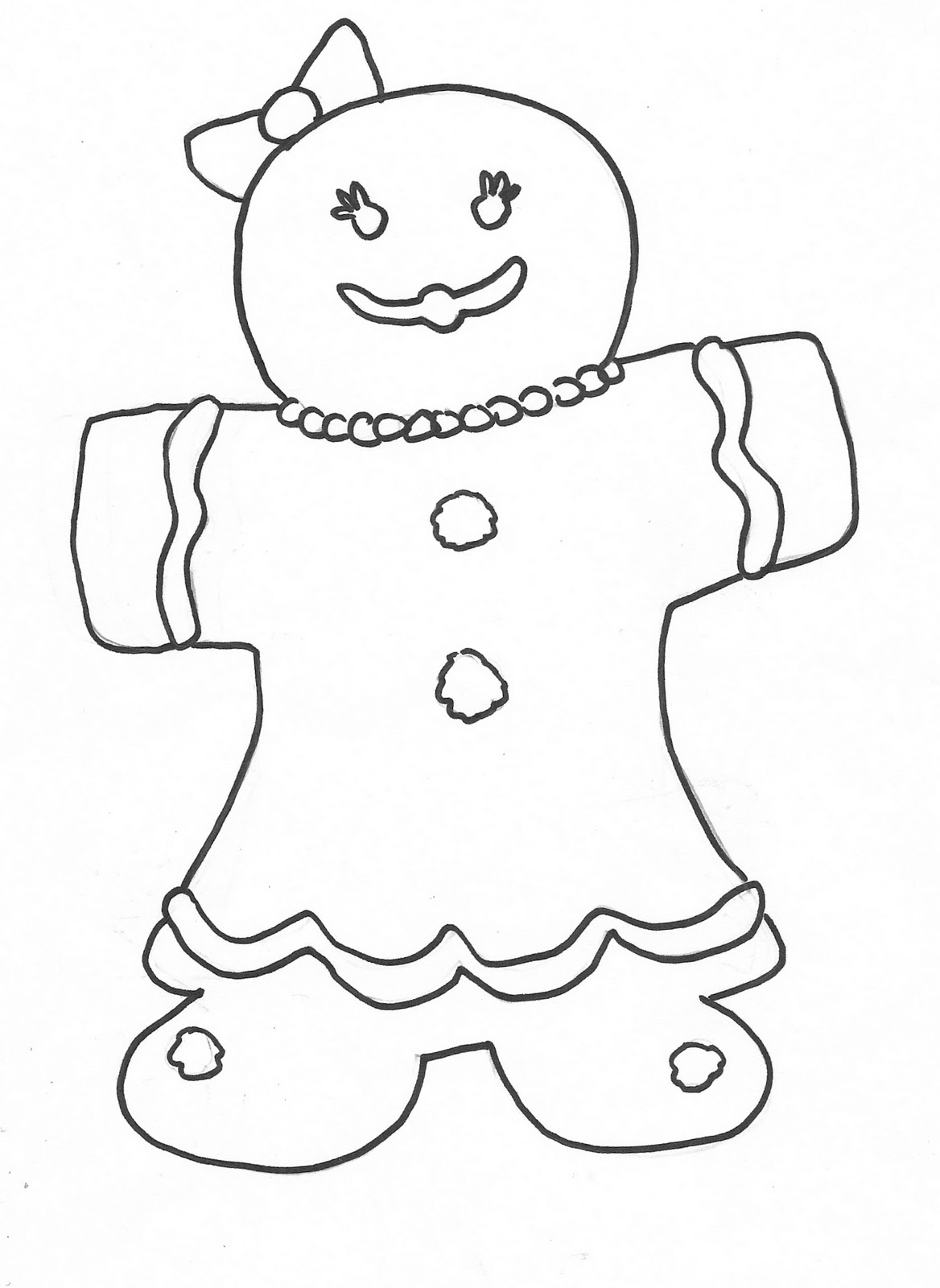 ginger man coloring pages - photo#27