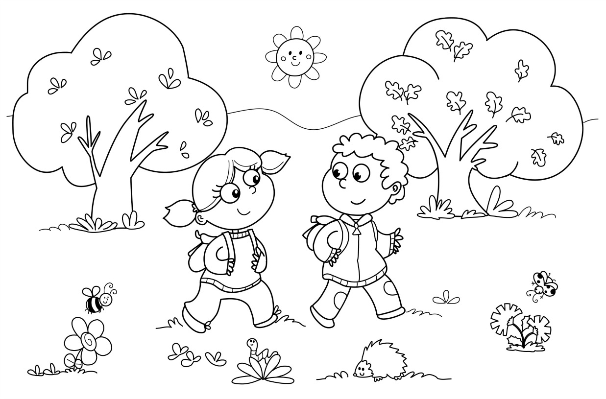 coloring pages kindergarten - Coloring Page Kindergarten