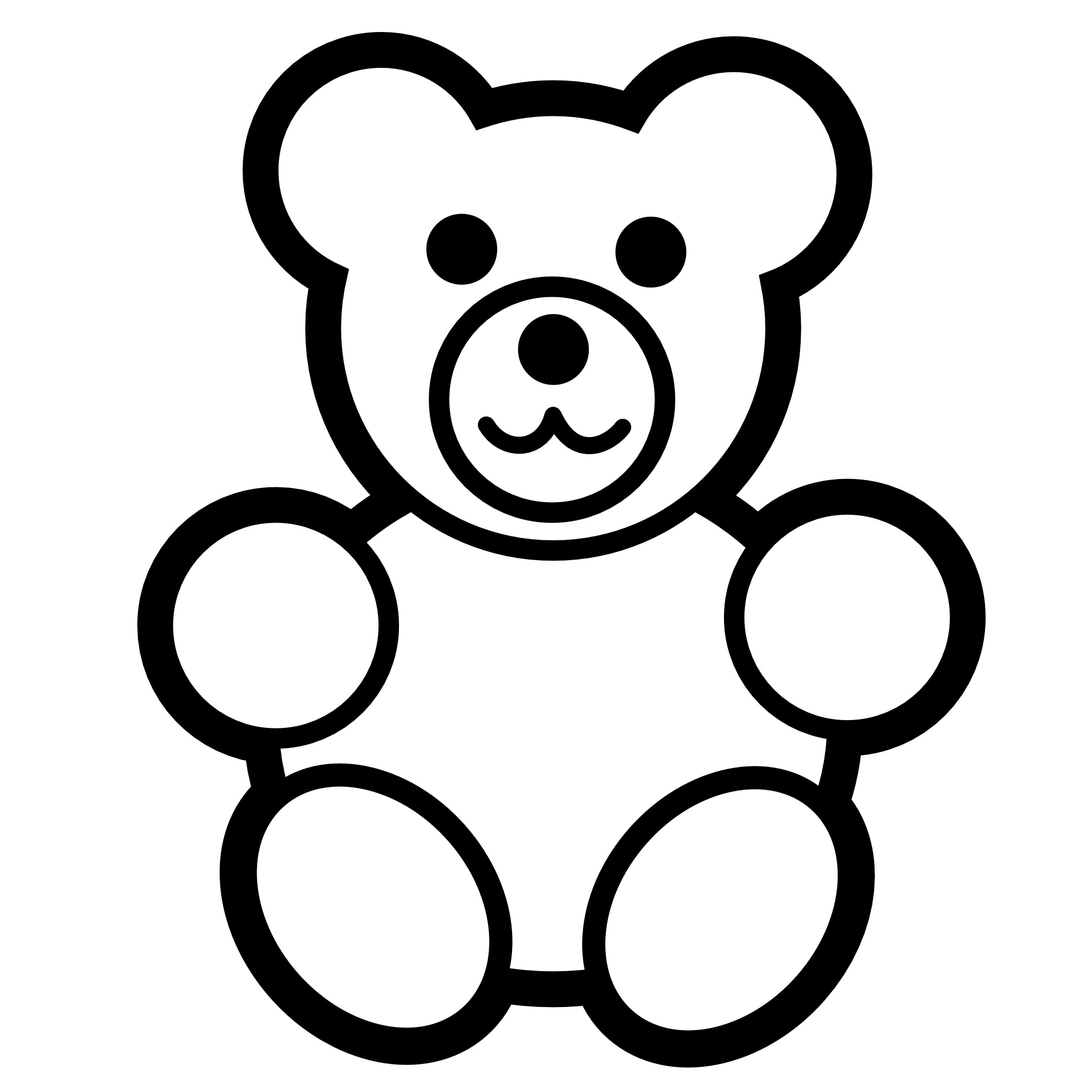 Delicate image regarding teddy bear printable