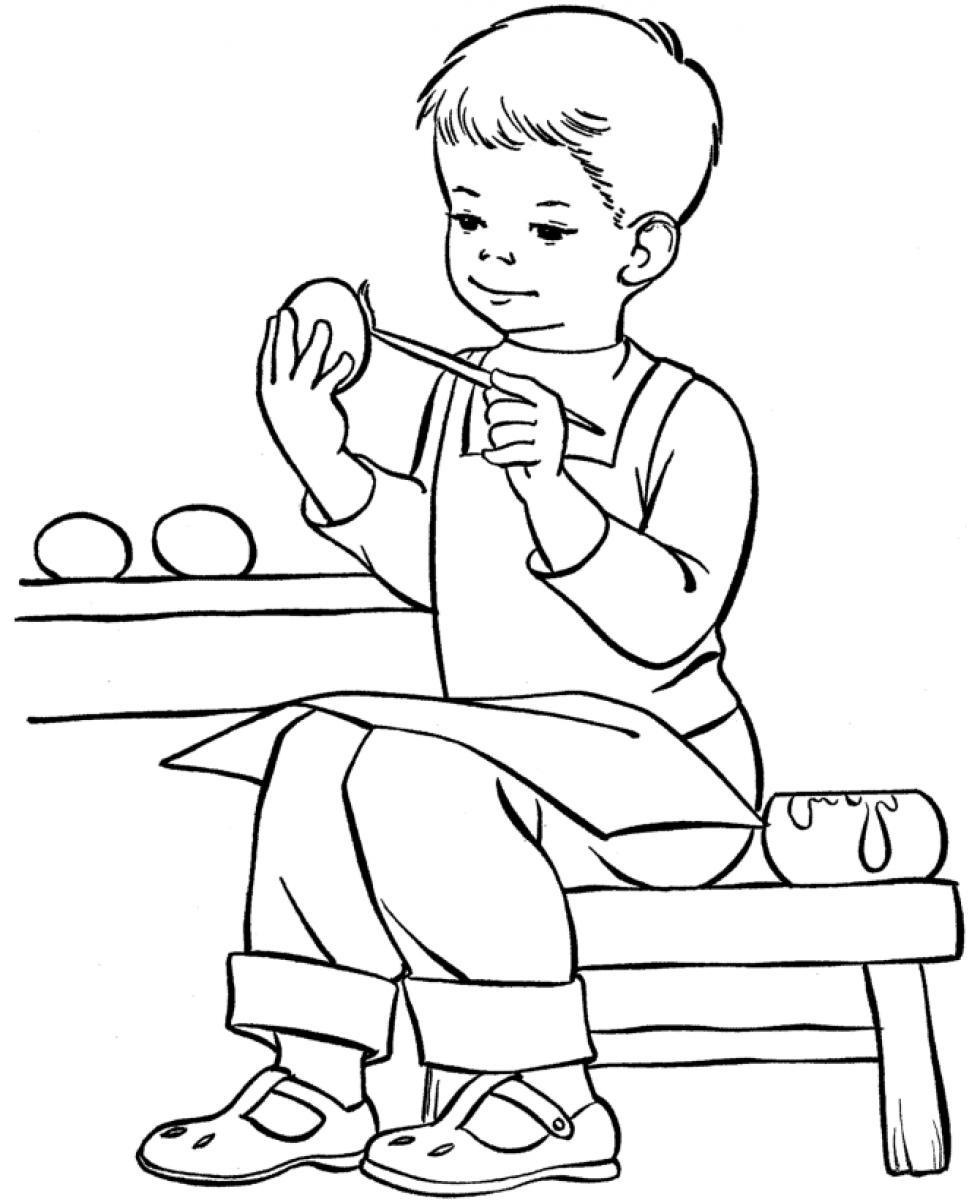 boy coloring pages for print - photo#21
