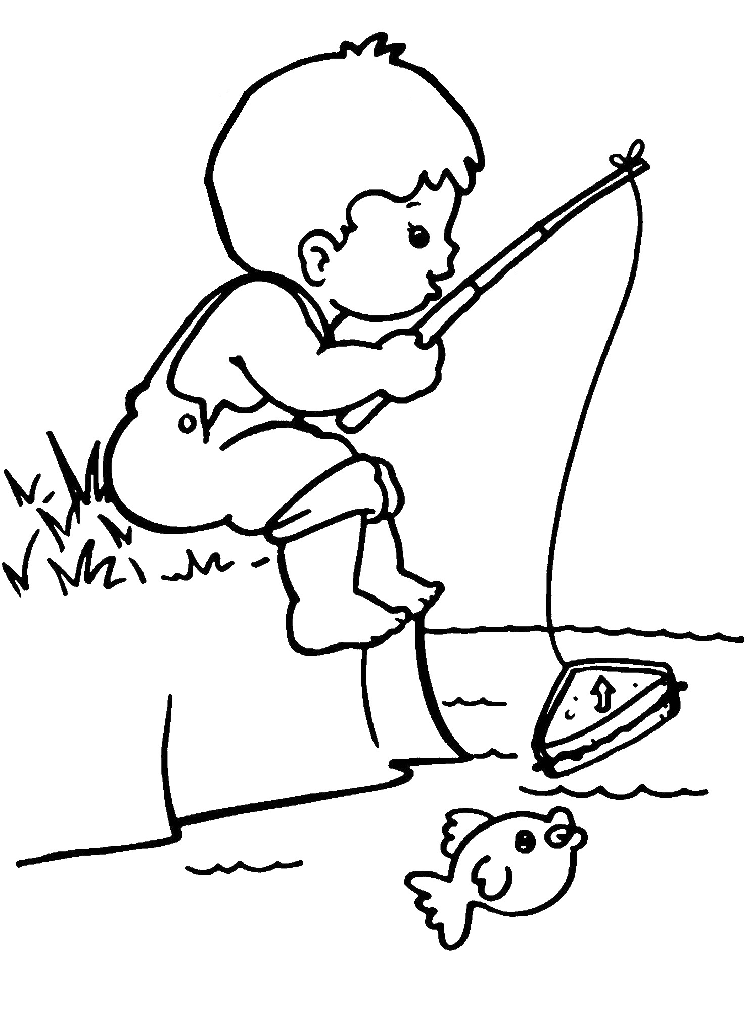 little boy coloring pages - photo#36