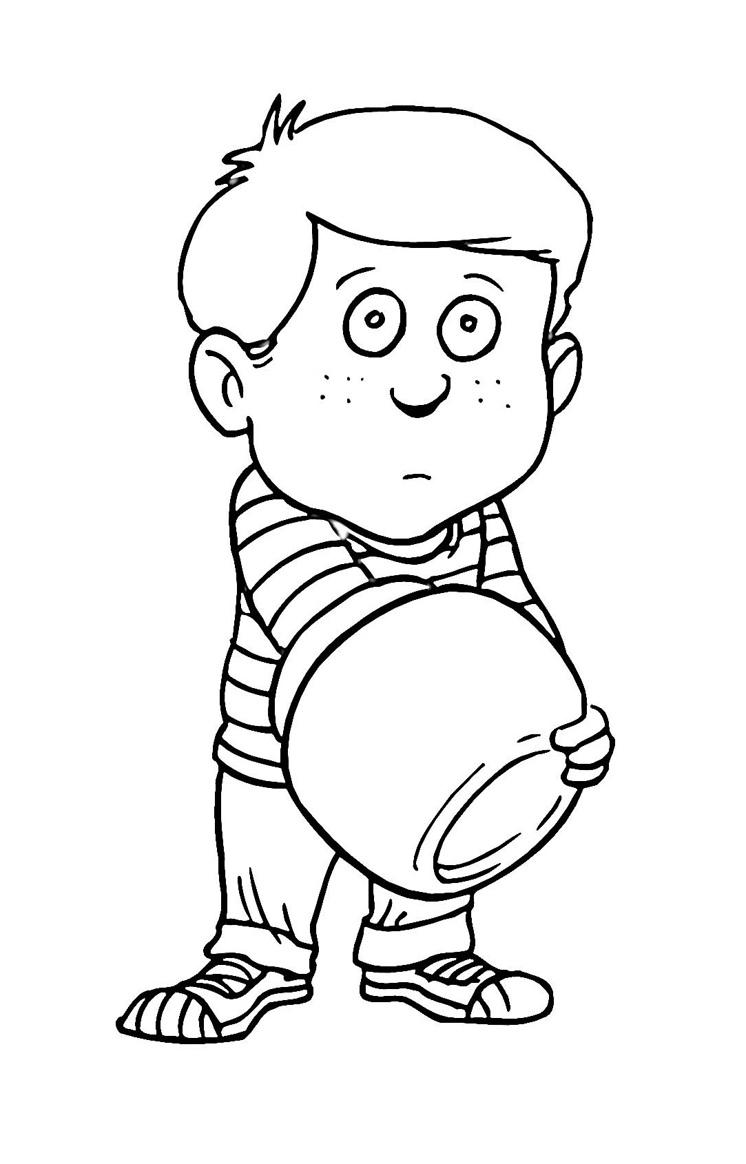 boy coloring pages for print - photo#11