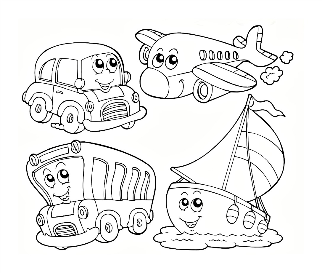 coloring pages for kindergarten - Activity Coloring Sheets