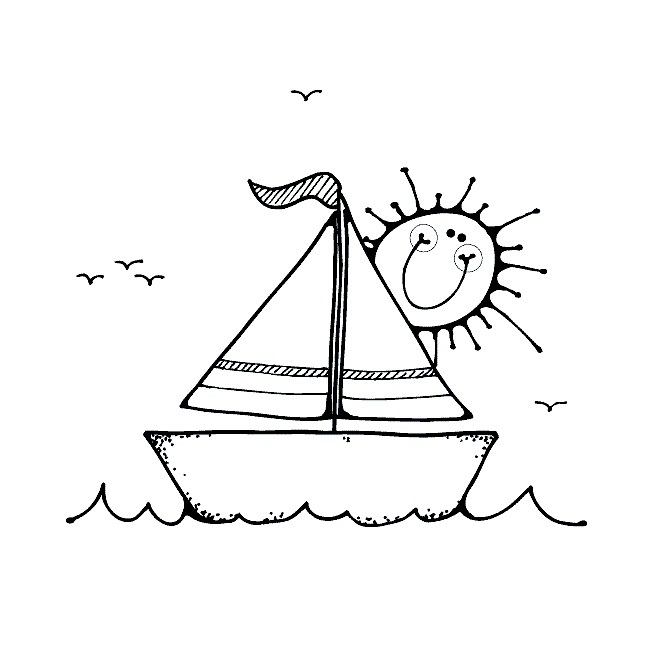 coloring book pages boat - photo#15