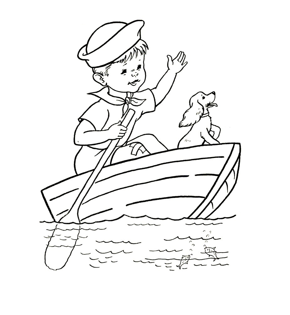 coloring book pages boat - photo#12