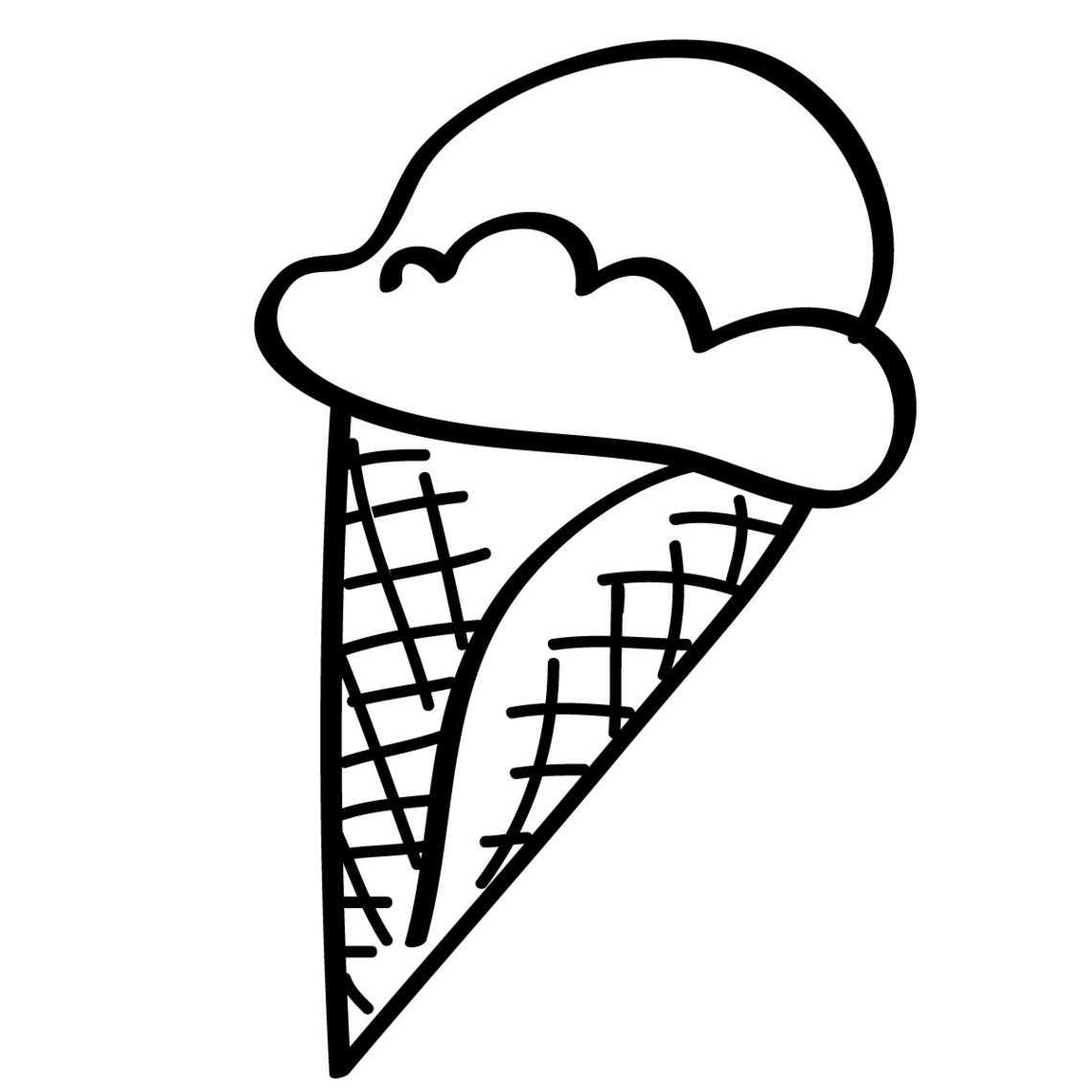 Coloring pictures of ice cream cones - Coloring Pages Of Ice Cream