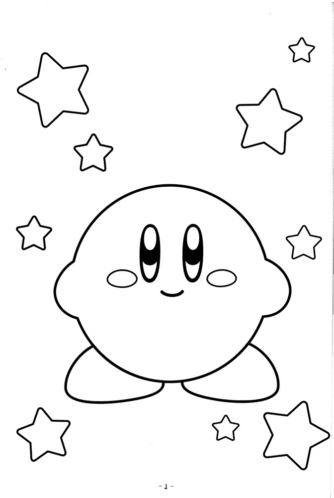 Kirby Coloring Pages Photos Video Game Coloring Pages Coloring