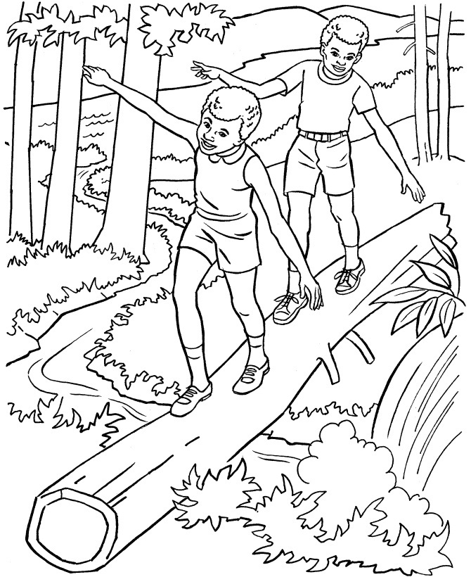 nature coloring pages print - photo#12