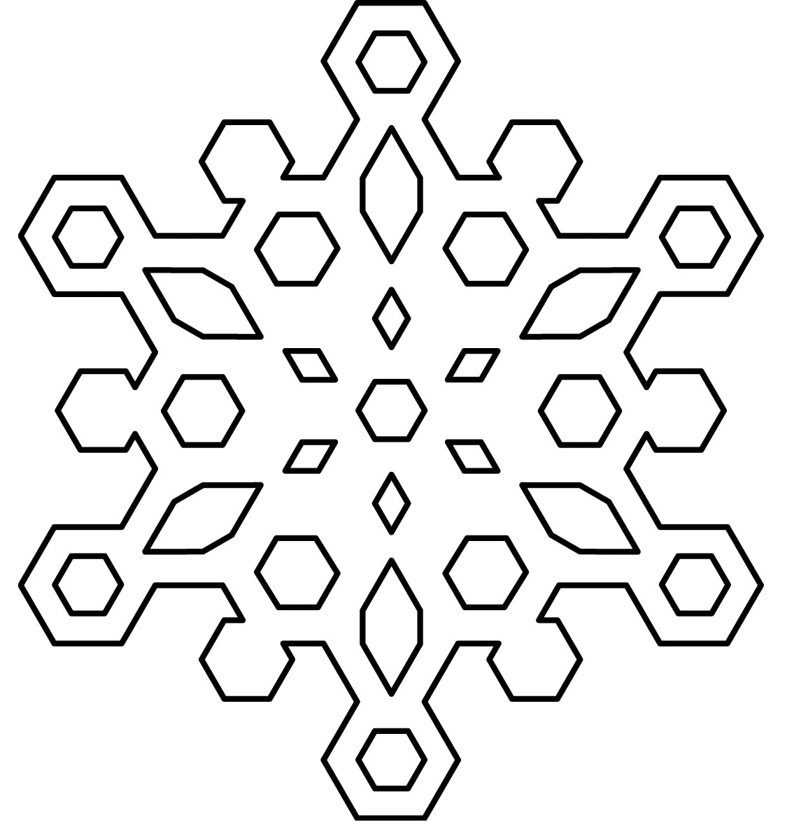 coloring pages of snowflakes - Snowflake Coloring Page