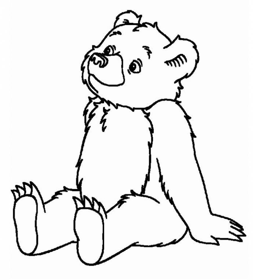 coloring pages of teddy bears - Bear Coloring Pages