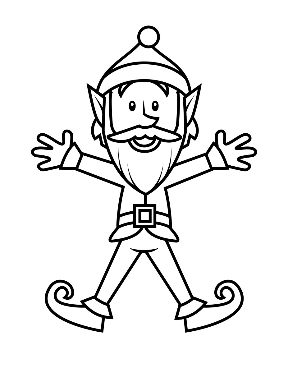 santa and elves coloring pages - photo#36
