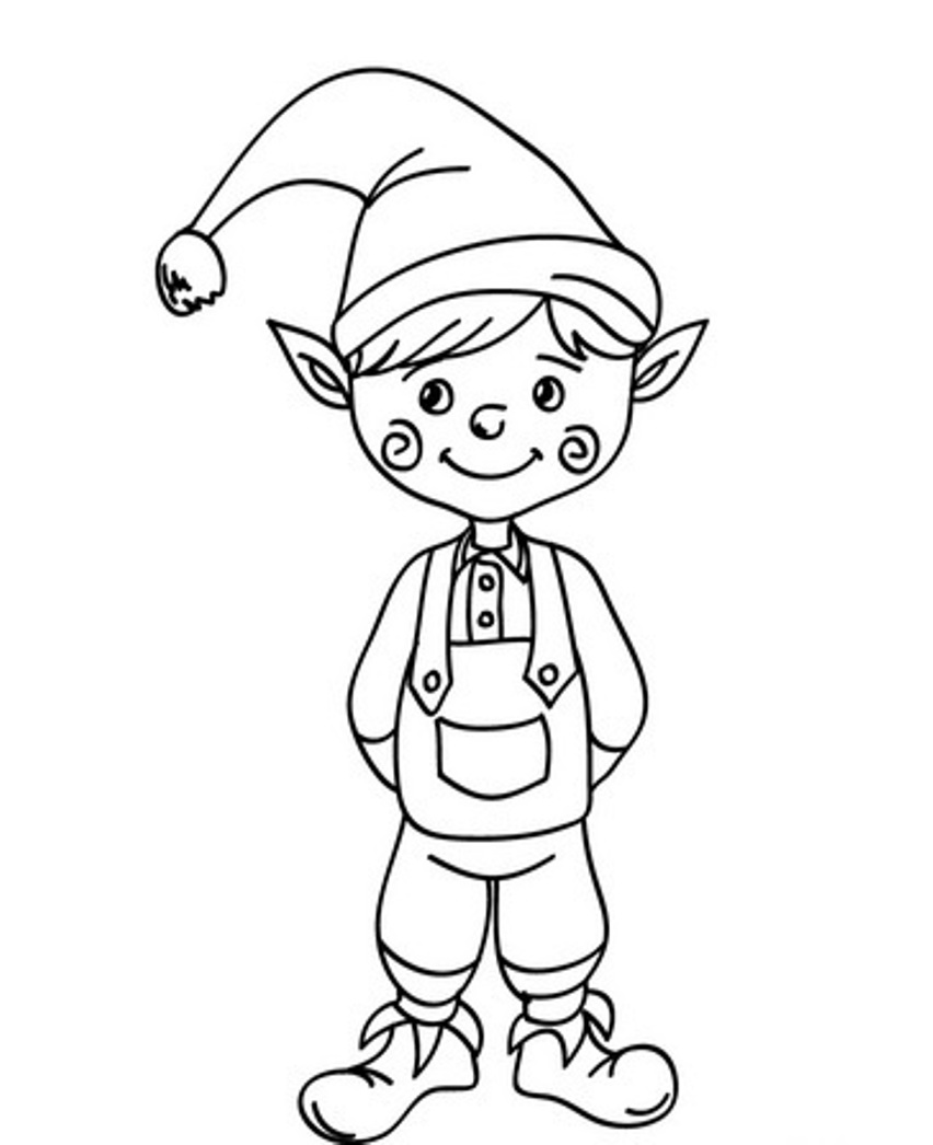 elves coloring pages to printy - photo#3