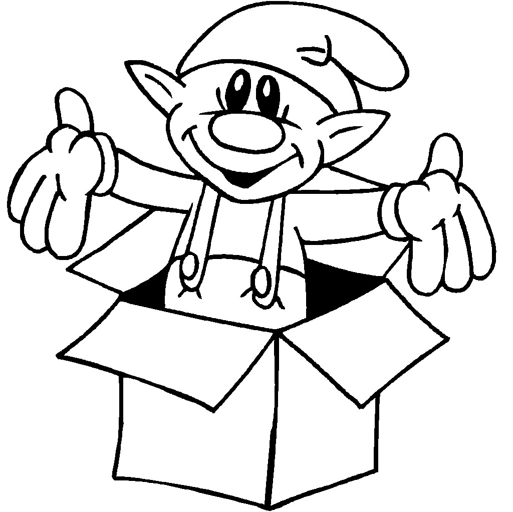 elves coloring pages to printy - photo#10