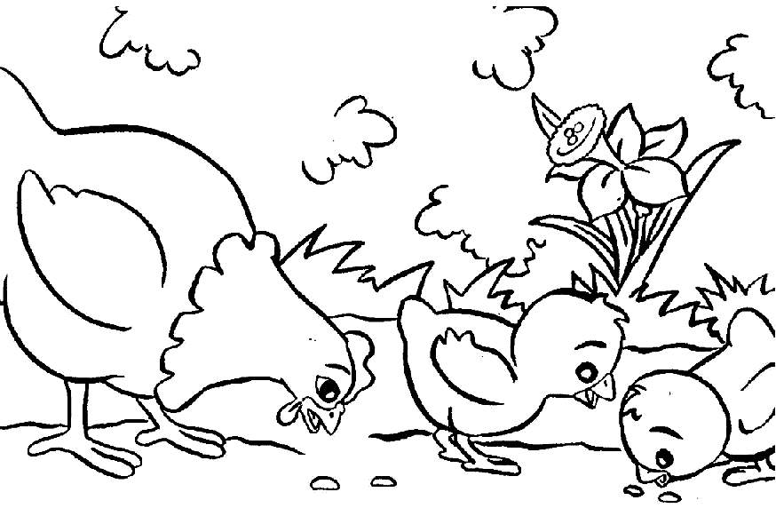 farm animal coloring pages printable - Coloring Animals For Kids