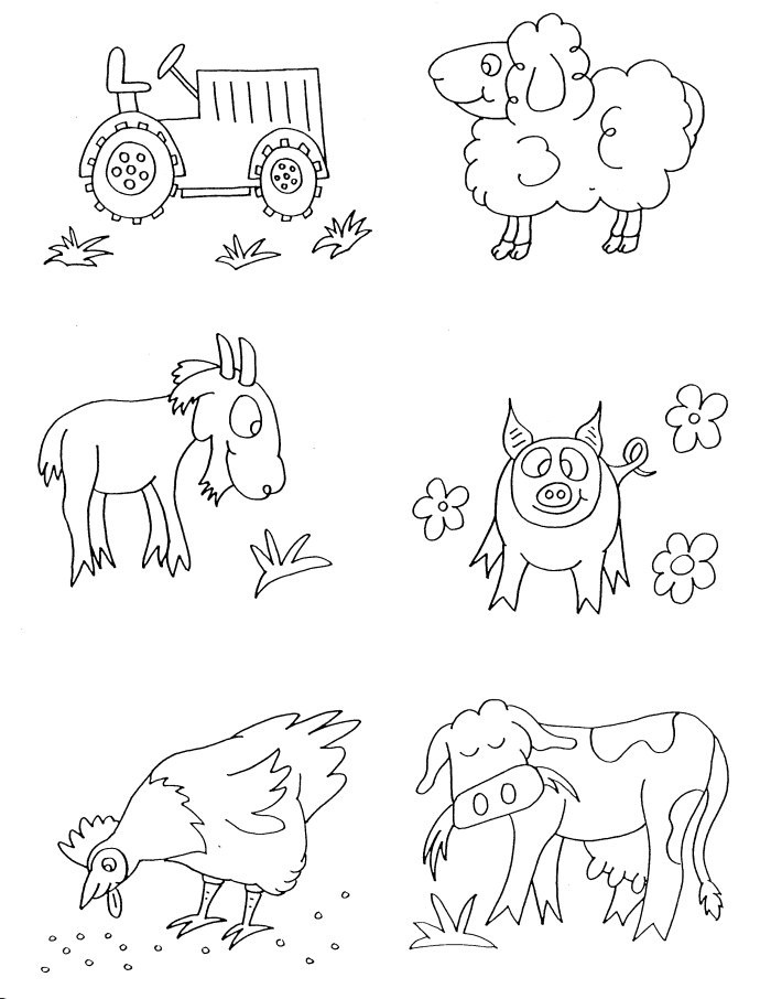 printable coloring pages farm animal - photo#5