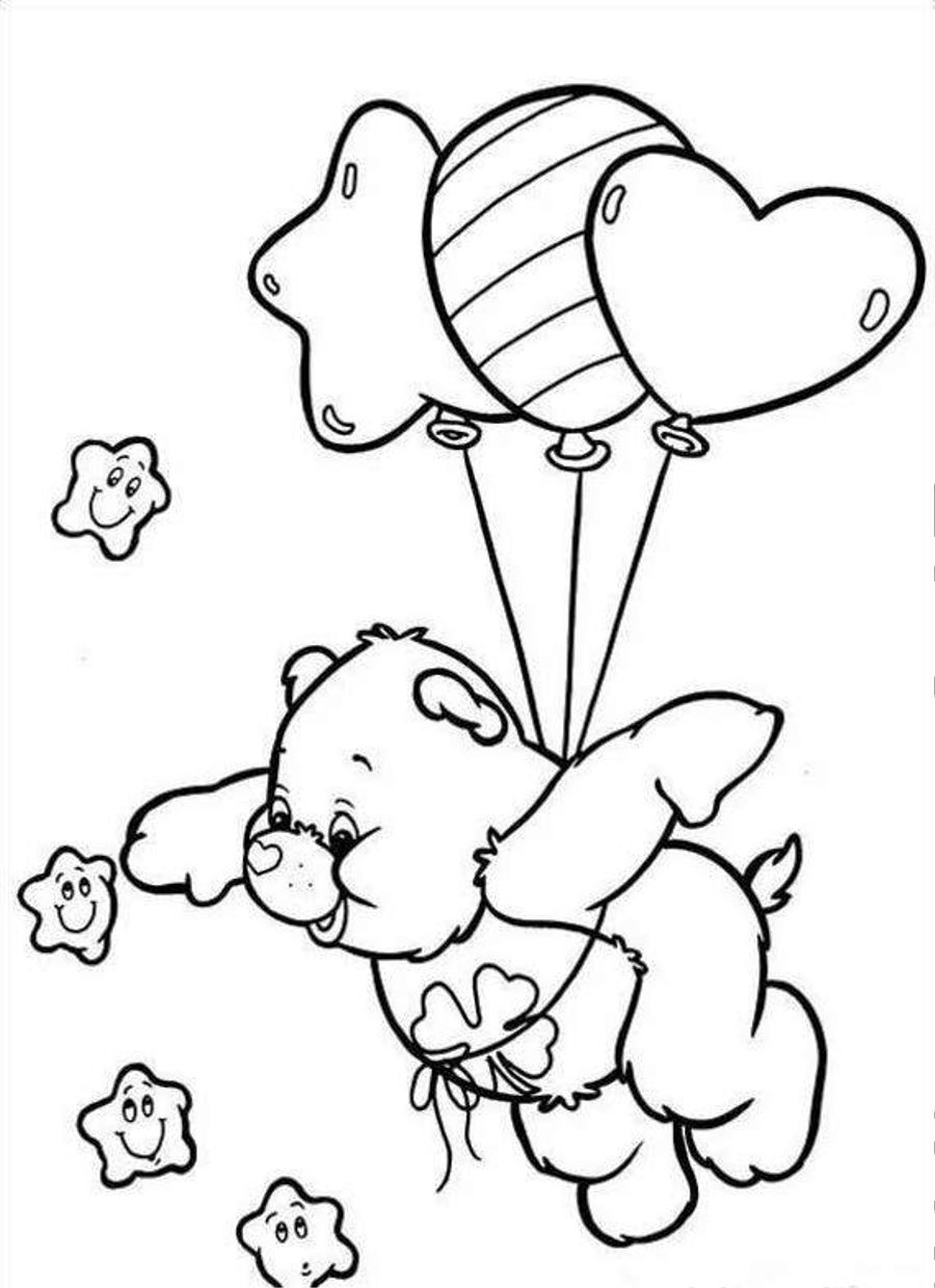 Coloring Pages Coloring Pages Of Care Bears free printable care bear coloring pages for kids pages