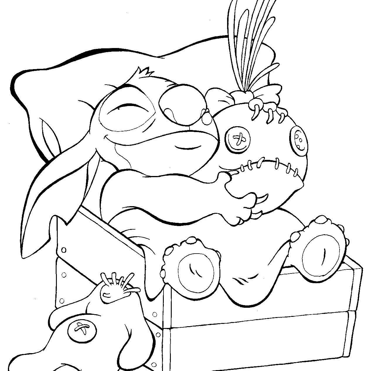 Free coloring pages of by stitch