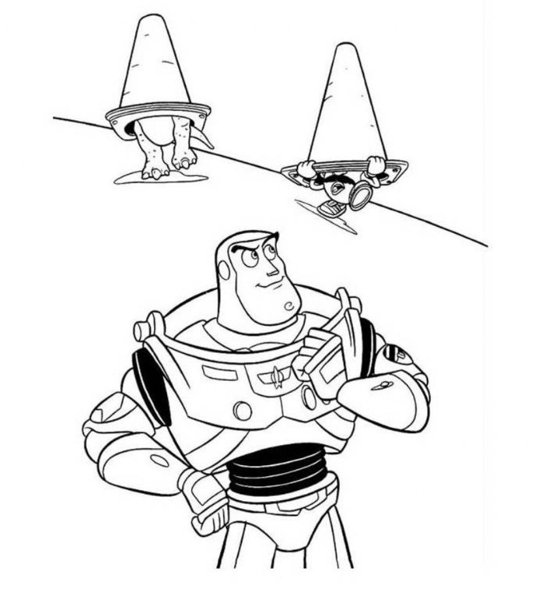 free printable buzz lightyear coloring pages - Buzz Lightyear Coloring Pages Free