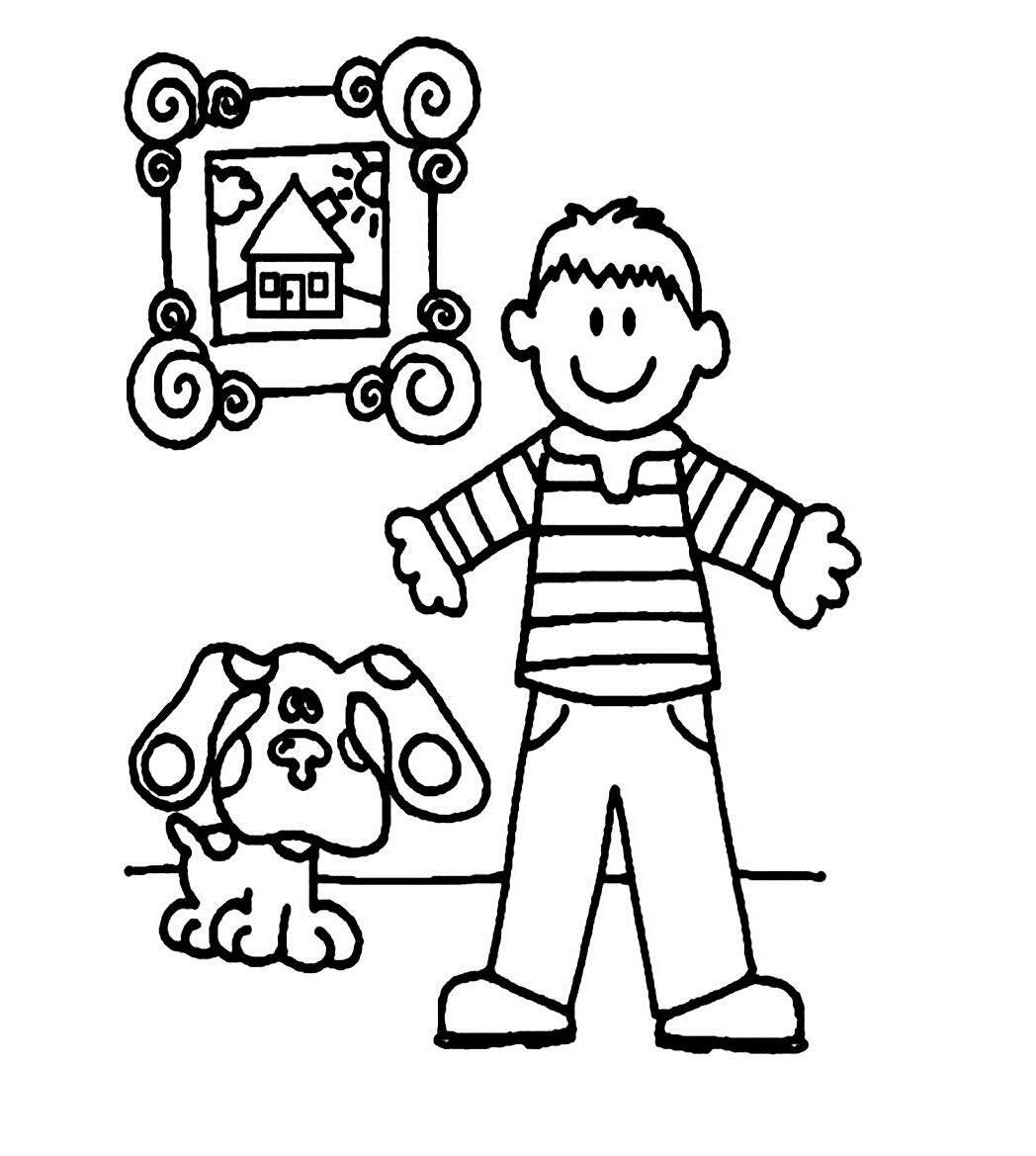 boy coloring pages for print - photo#7