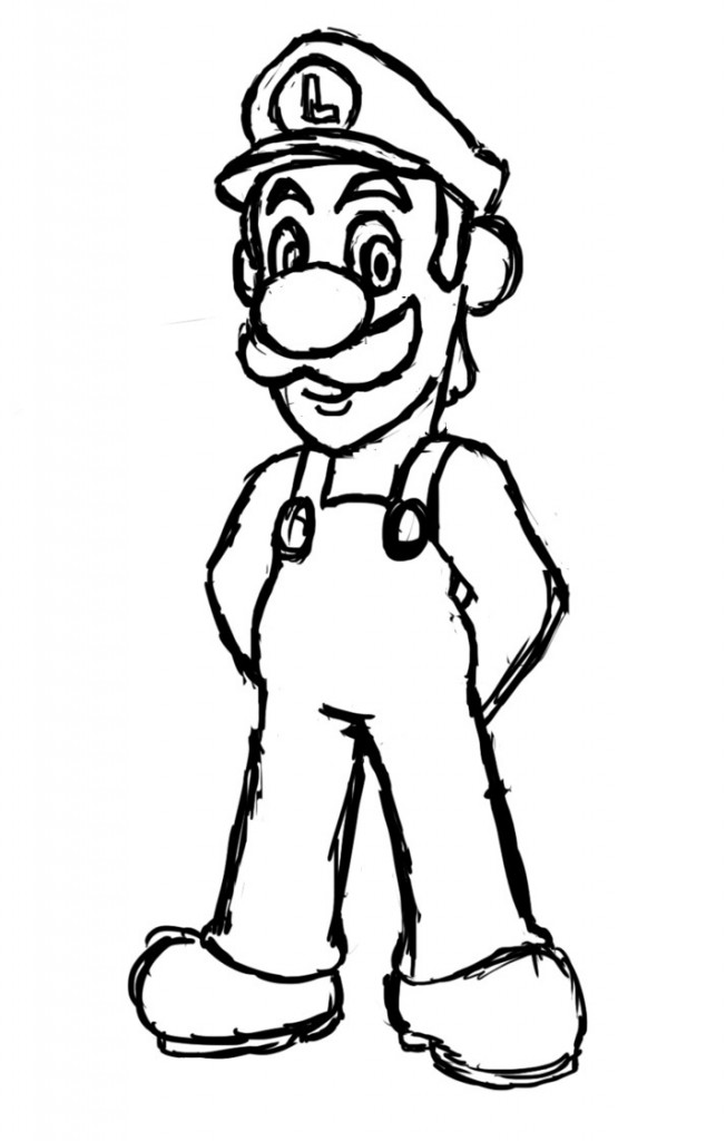 free printable kid coloring pages | Free Printable Luigi Coloring Pages For Kids