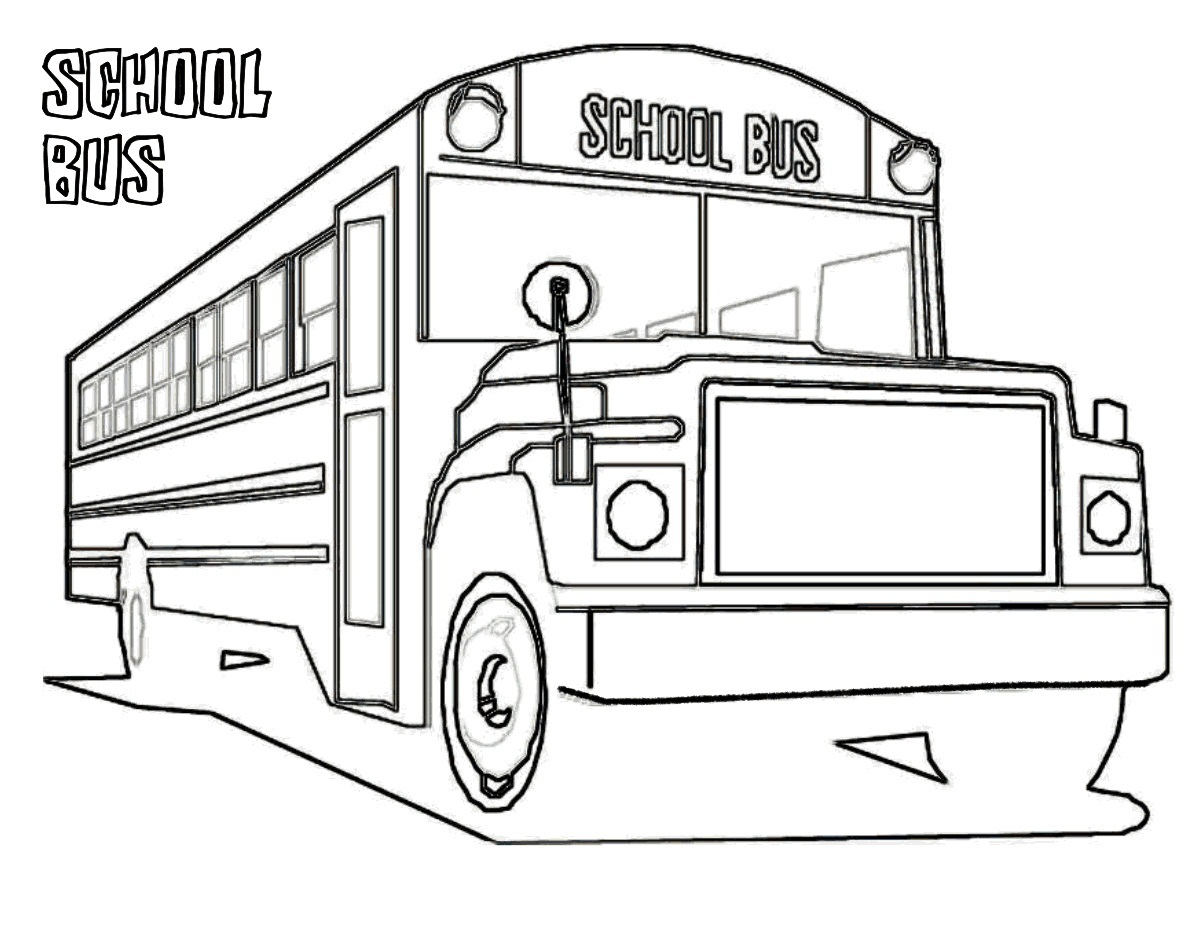 free printable school bus coloring pages - Coloring Page Of A School