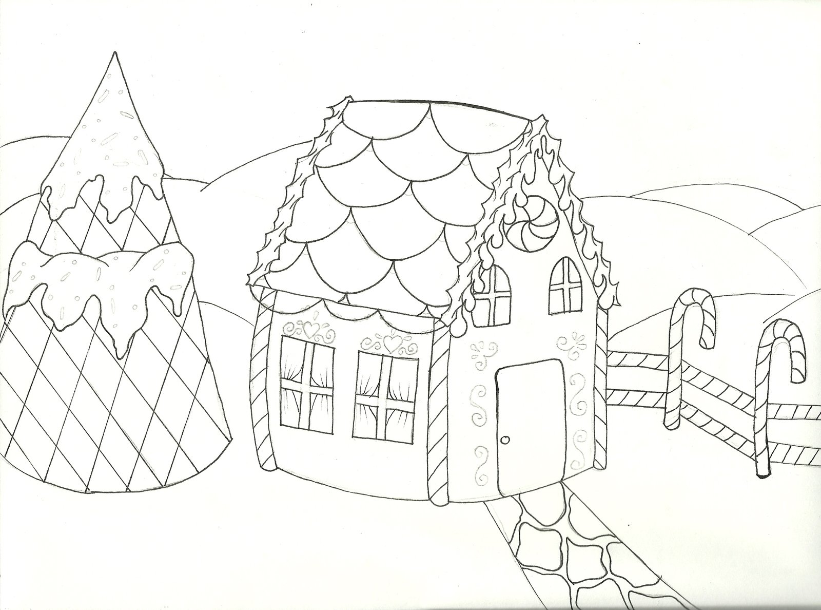 Printable coloring pages gingerbread house - Gingerbread House Coloring Pages Printable
