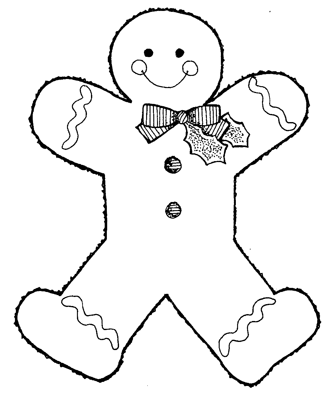 ginger man coloring pages - photo#26