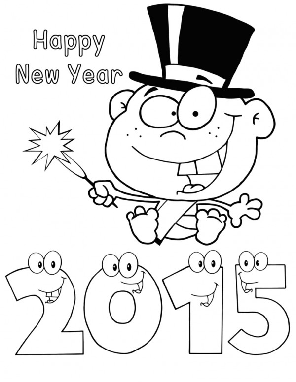 baby new year coloring pages free | Free Printable New Years Coloring Pages For Kids
