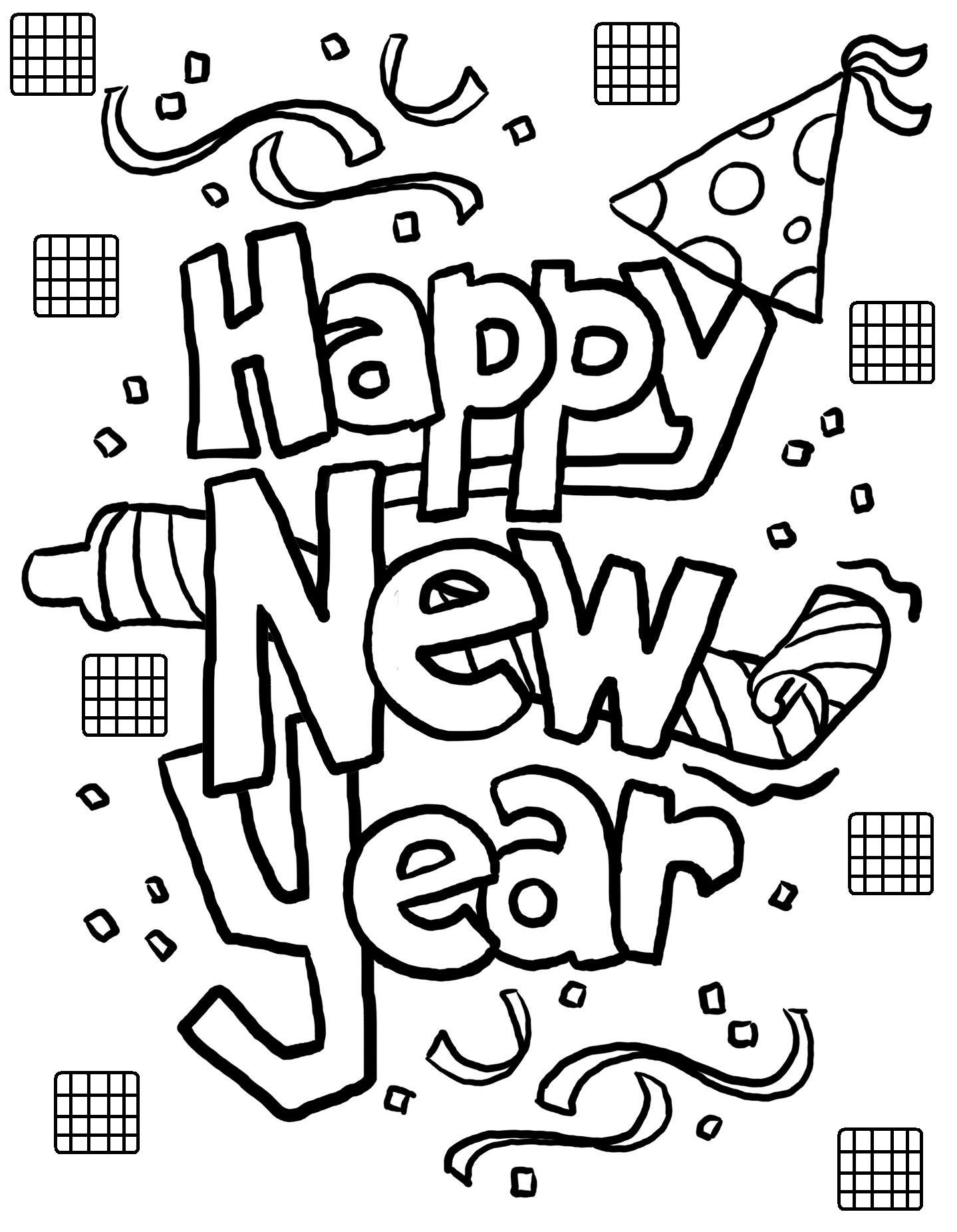 Free coloring pages new years -