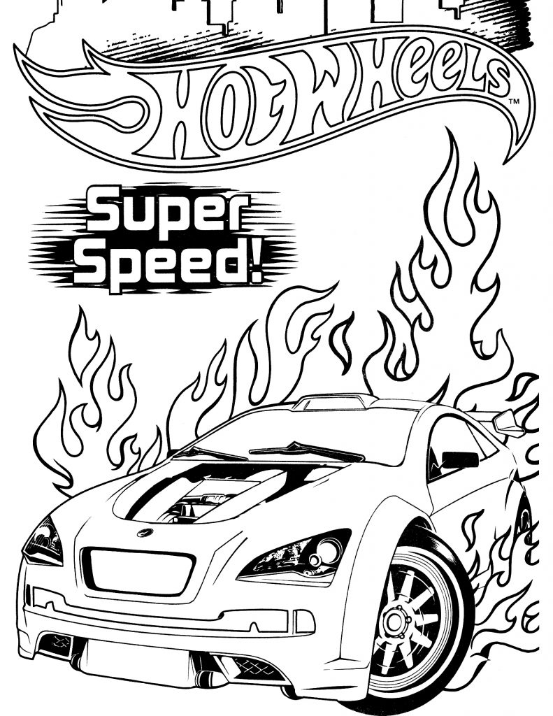 hot wheels coloring pages free - photo#3