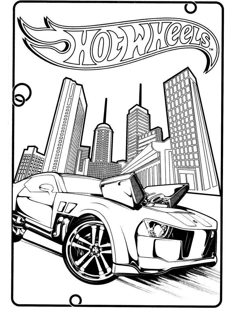 hot wheel coloring pages - photo#26