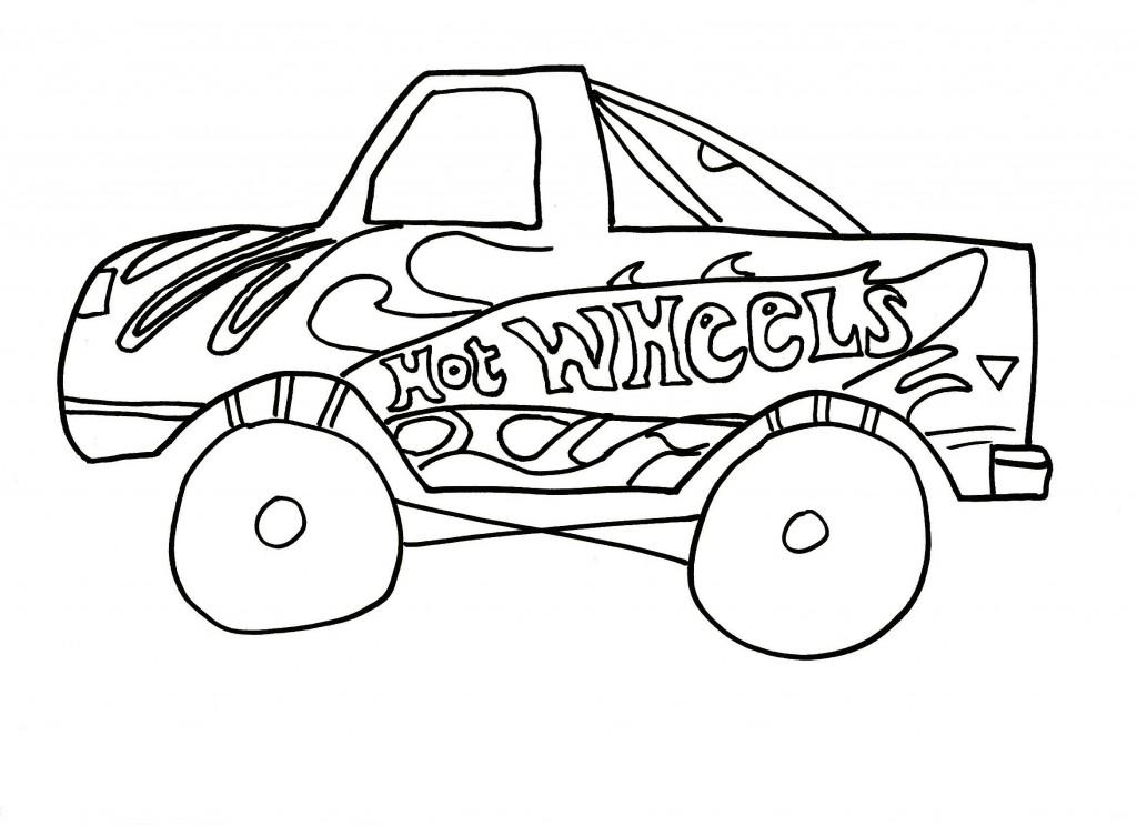 Free Printable Hot Wheels Coloring