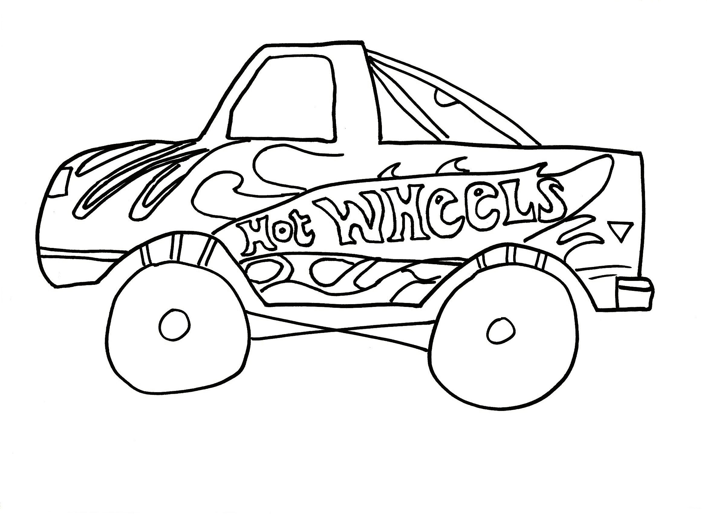 Free coloring pages for young adults - Hot Wheels Coloring Pages Print