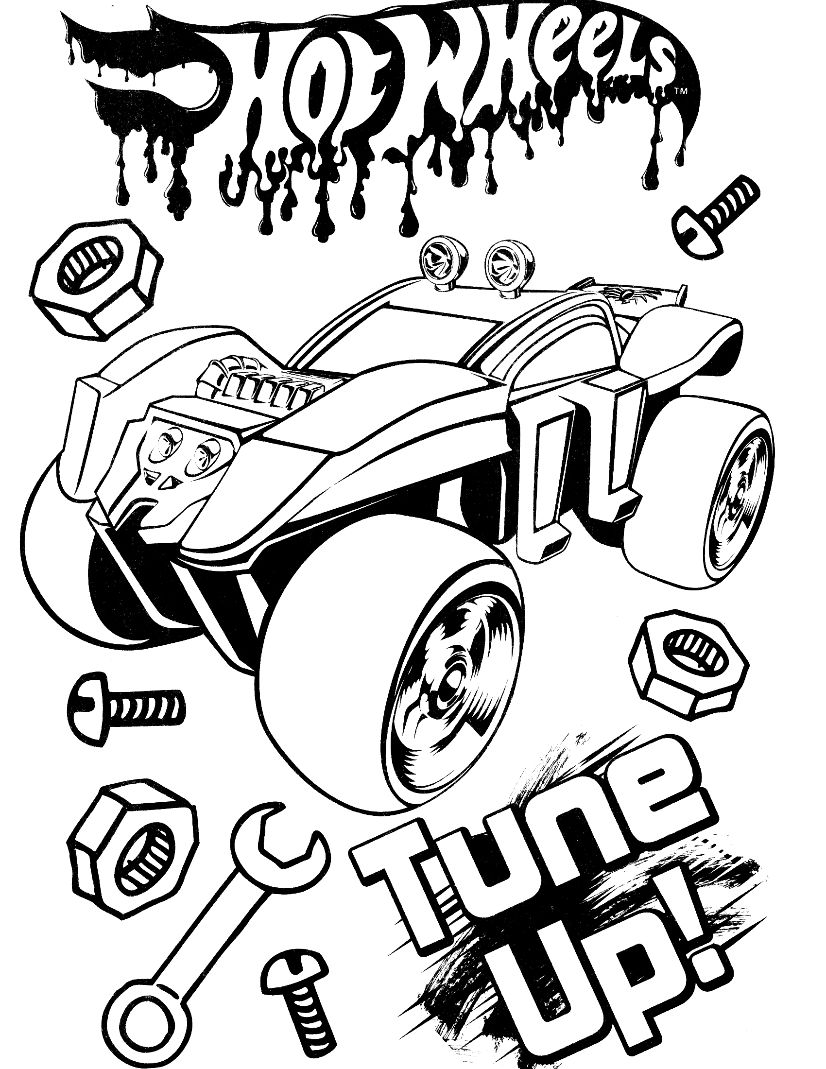 Hot Wheels Coloring Pages on famous race cars