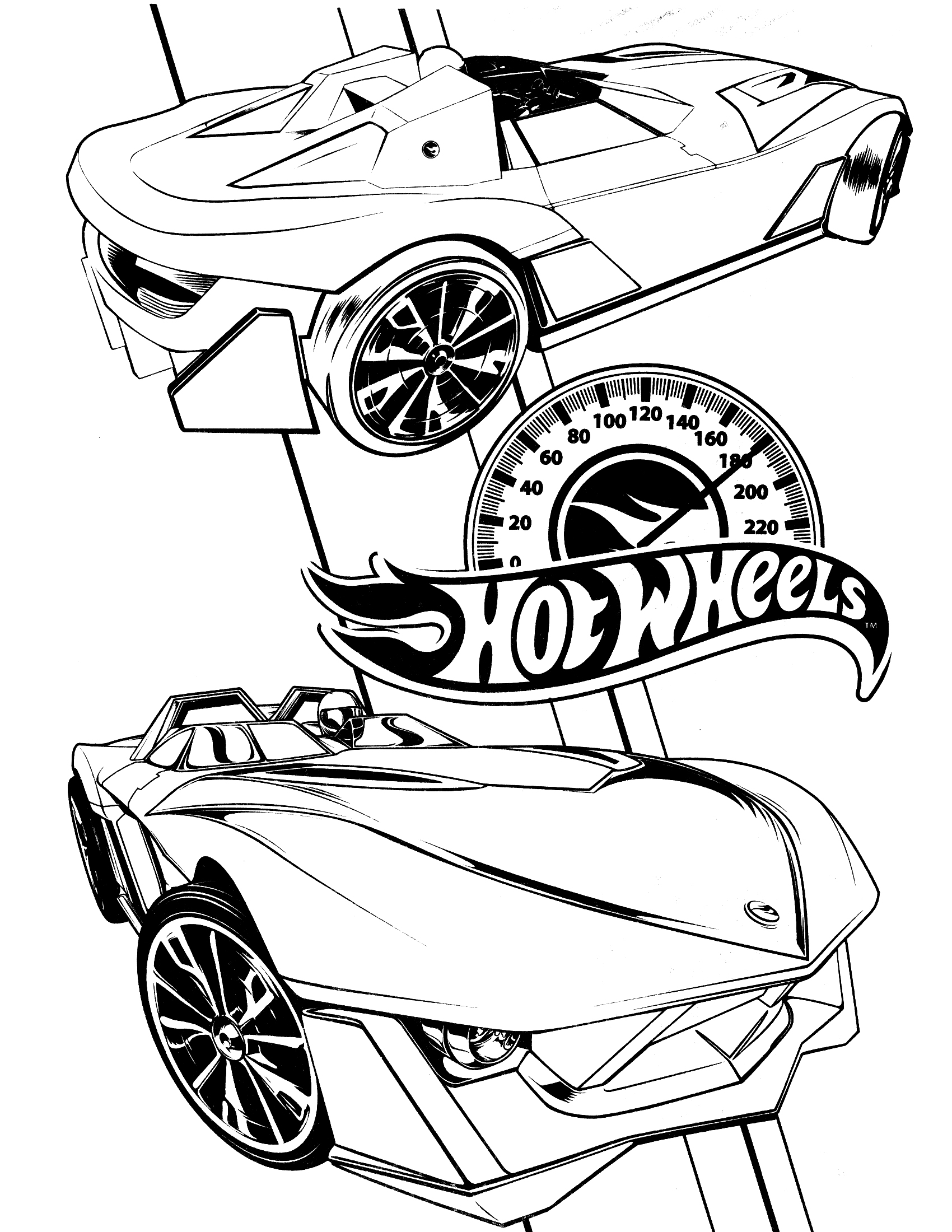 Coloring Pages To Print : Free printable hot wheels coloring pages for kids