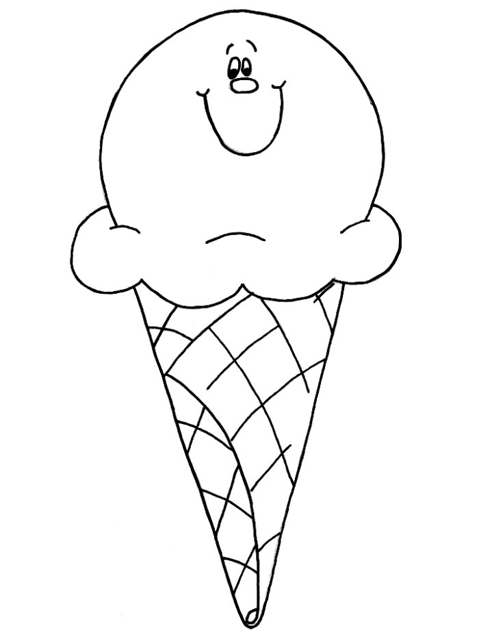 Ice Cream Color Pages