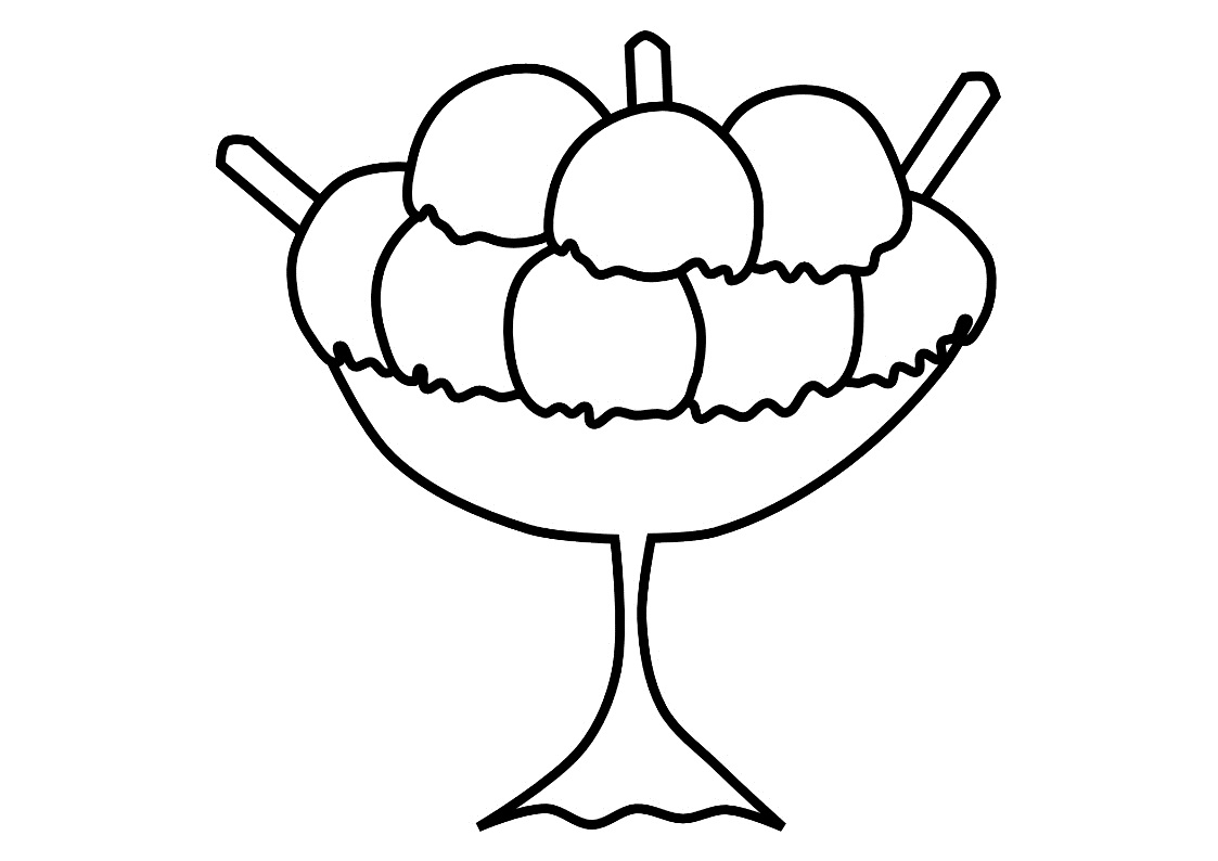 Free coloring pages ice cream sundae - Ice Cream Coloring Page