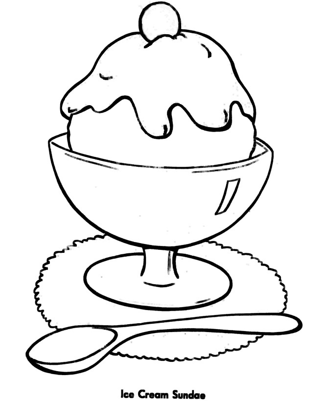 Ice Cream Coloring Pages Print