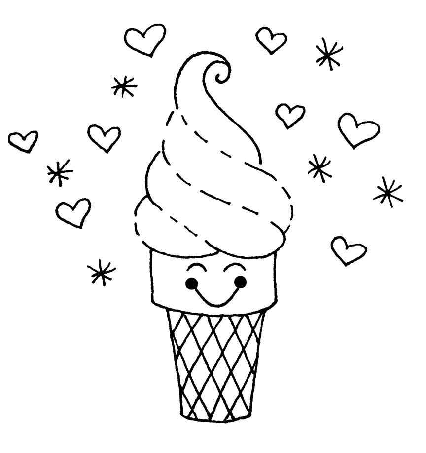 Ice Cream Coloring Pages to Print
