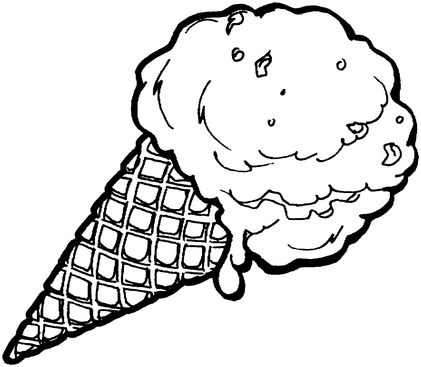 Lovely Ice Cream Coloring Pages