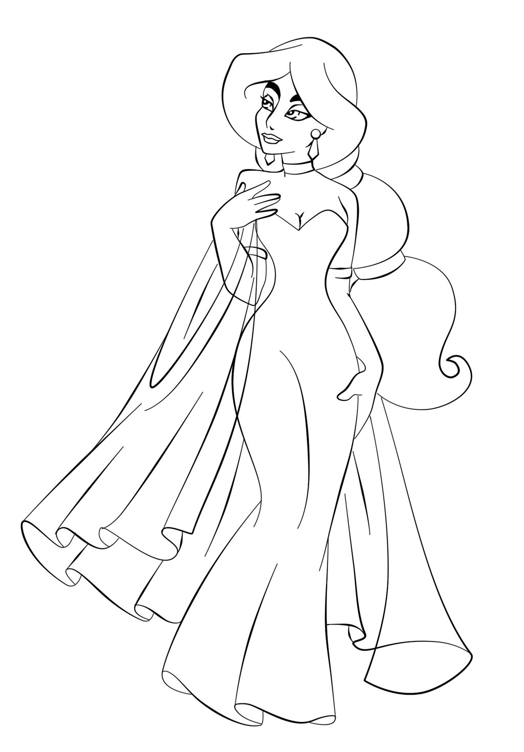 Princess jasmine colouring pages to print - Jasmine Coloring Page
