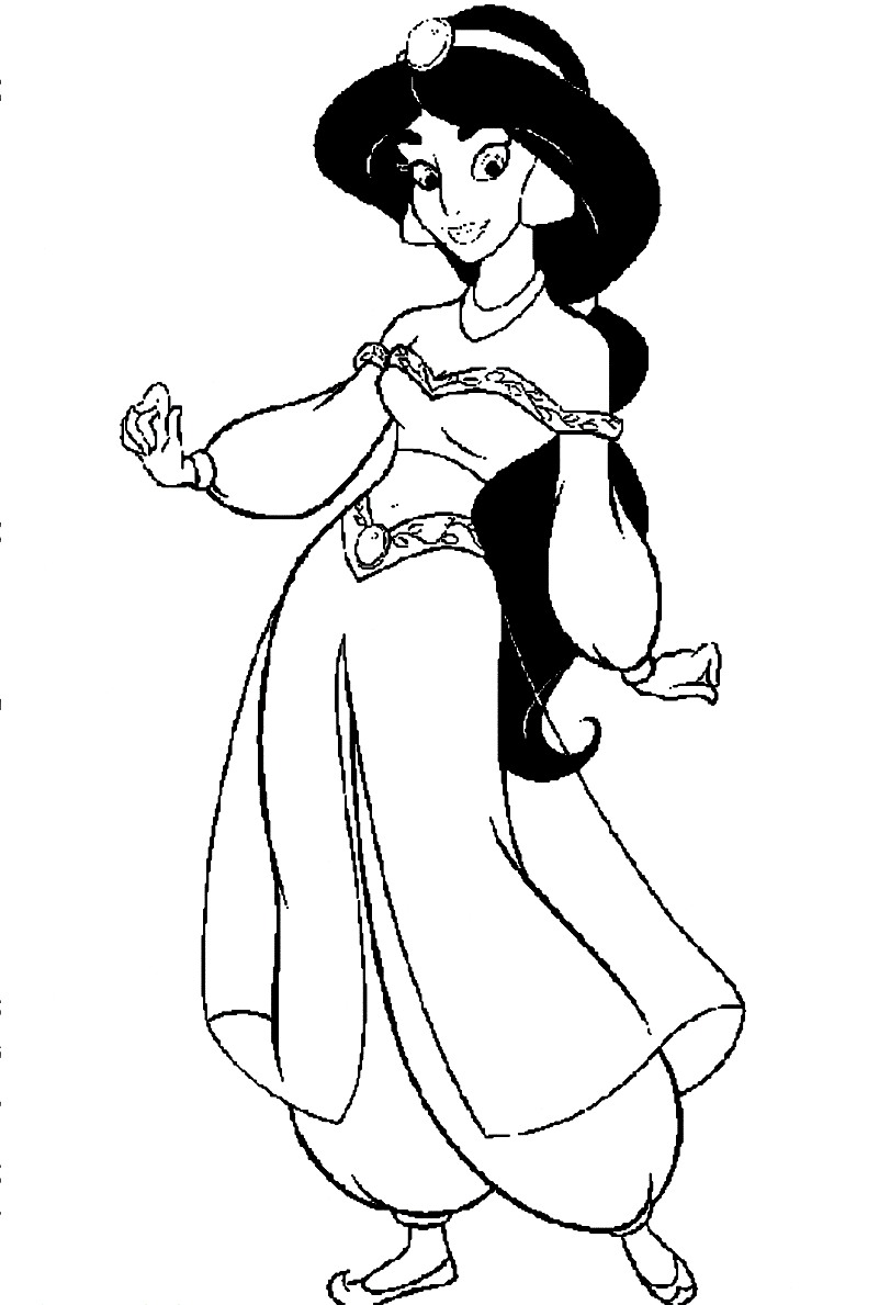 Free Printable Jasmine Coloring Pages For Kids