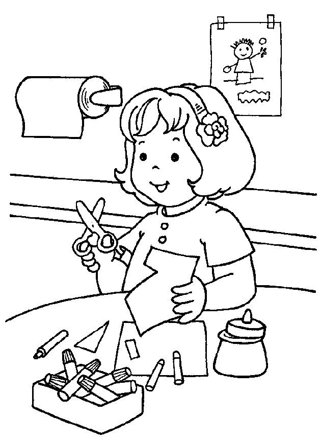 kindergarten coloring pages to print - Kindergarten Coloring Page