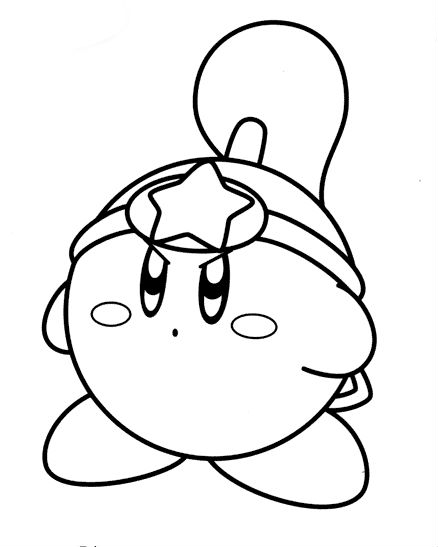 Sword Kirby Coloring Pages Coloring